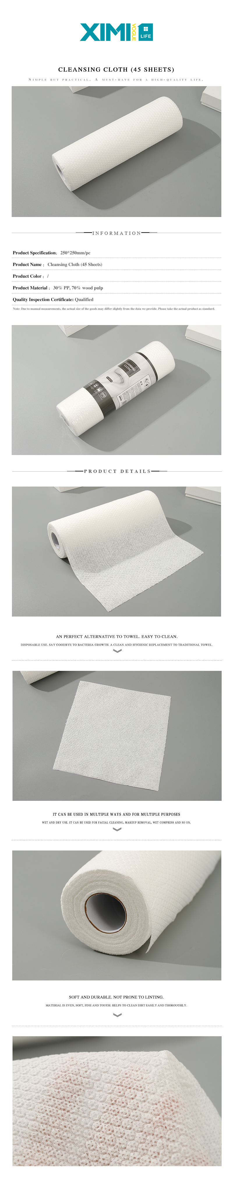 Cleansing Cloth (45 Sheets)