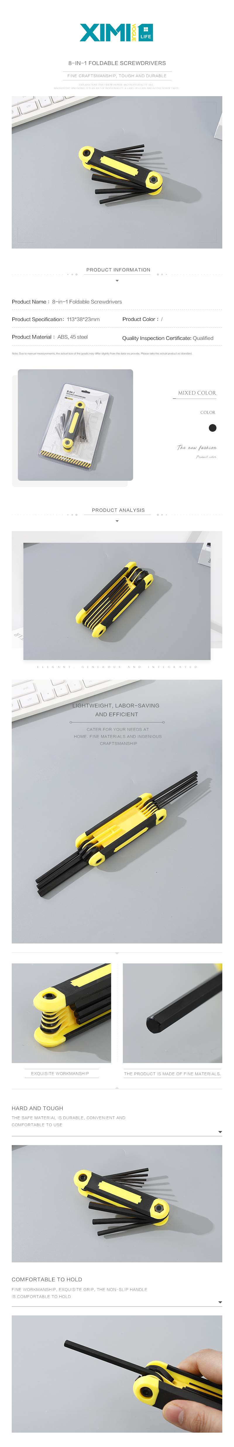 8-in-1 Foldable Screwdrivers
