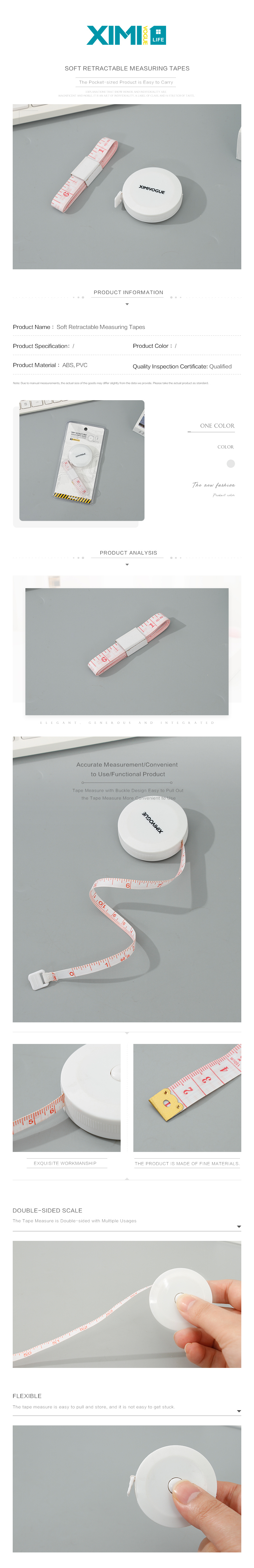Soft Retractable Measuring Tapes