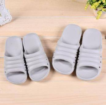 Simple Style Bathroom Slippers for Children (Gray)(26)